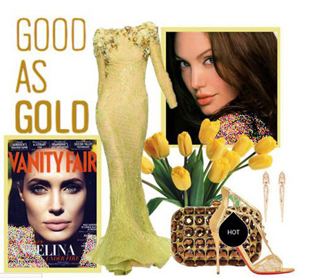 لباس های شب به سبک آنجلینا جولی,نحوه ست کردن لباس شب آنجلینا جولی