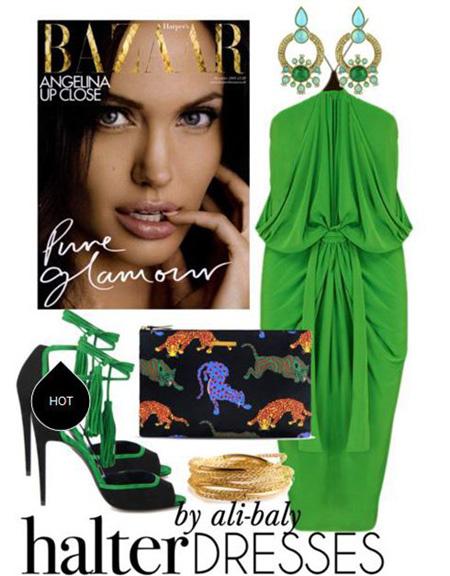 نحوه ست کردن لباس شب آنجلینا جولی, مدل ست های لباس شب آنجلینا جولی