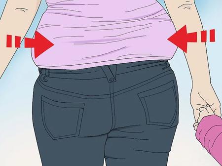 نحوه پوشش خانم های شکم بزرگ,ست کردن لباس خانم های شکم بزرگ