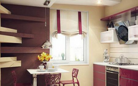 پرده های کلاسیک برای آشپزخانه,پرده های پنجره آشپزخانه