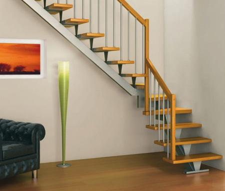 نرده راه پله چوبی در دکوراسیون داخلی -راه پله های خانه های دوبلکس, طراحی نرده های راه پله