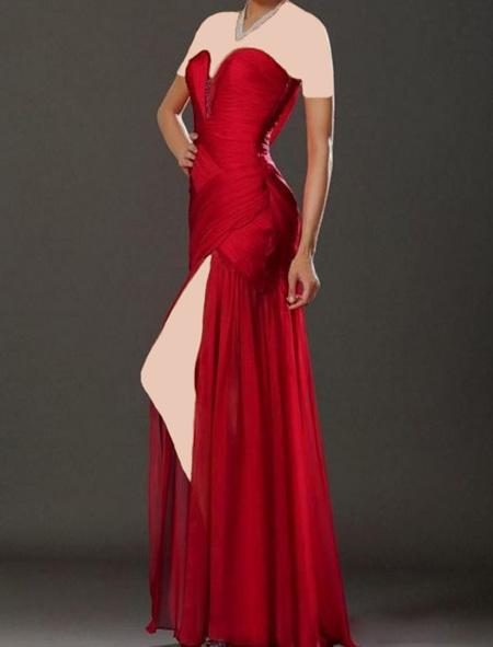 لباس قرمز,جدیدترین مدل لباس مجلسی قرمز