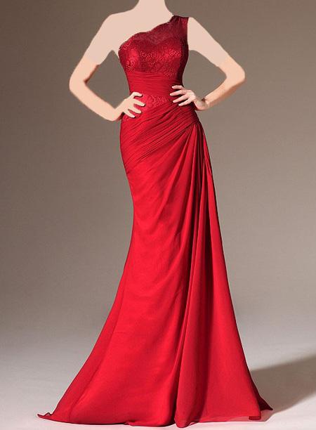 مدل لباس قرمز,لباس مجلسی قرمز