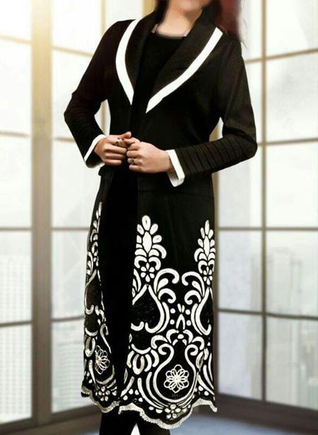 جدیدترین مدل مانتو زنانه, مانتو سفید و مشکی دخترانه