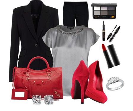 ست کردن لباس های قرمز و مشکی| ست لباس قرمز و مشکی