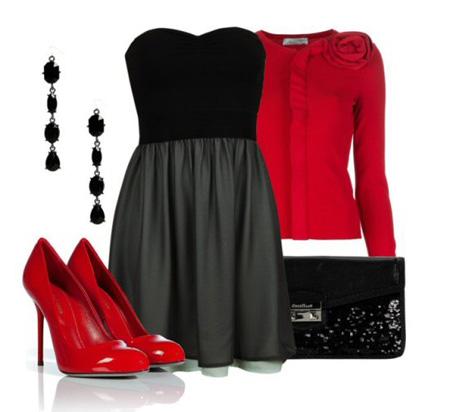 ست لباس قرمز و مشکی| ست قرمز و مشکی