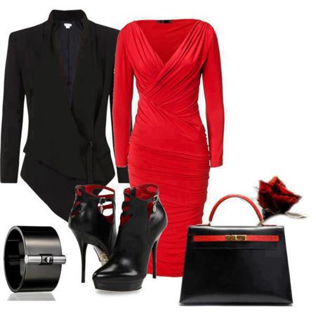 ست کردن لباس های قرمز و مشکی, ست لباس قرمز و مشکی