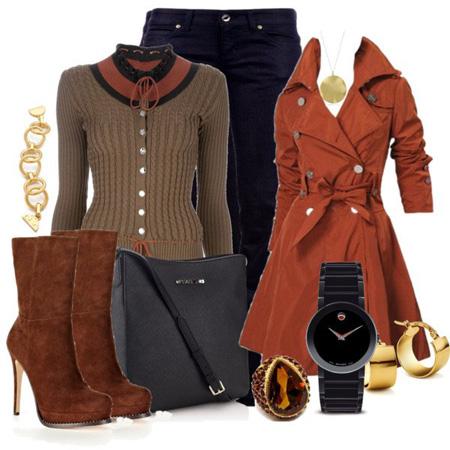 ست های زمستانی,ست سورمه ای و قهوه ای