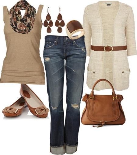 ست لباس های زمستانی به رنگ قهوه ای و سورمه ای, ست لباس های زمستانه