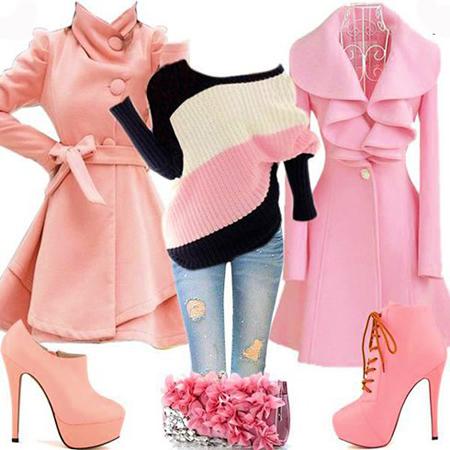 ست های زمستانی با پالتوهای رنگی,نحوه ست کردن لباس با پالتو