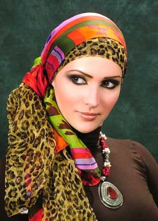 عکس   روشهای بستن روسری برای خانمهای شیکپوش