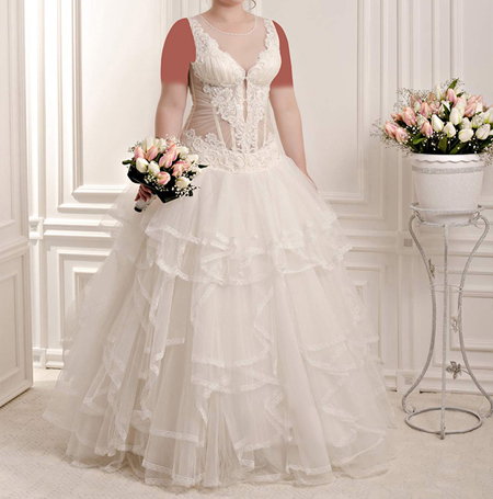 لباس عروس سایز بزرگ,شیک ترین مدل لباس عروس