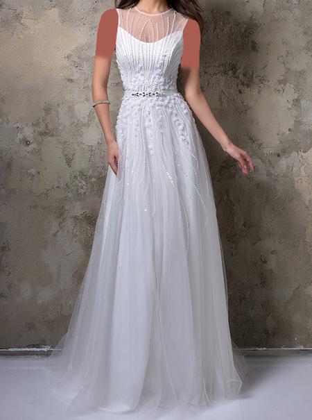 لباس مجلسی به رنگ سفید, لباس نامزدی