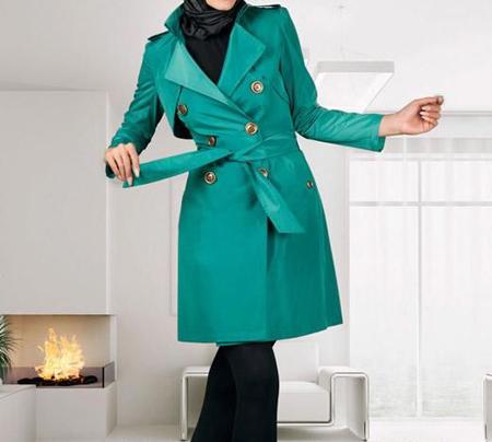مدل های زیبای مانتو سبز,رنگ سال 96