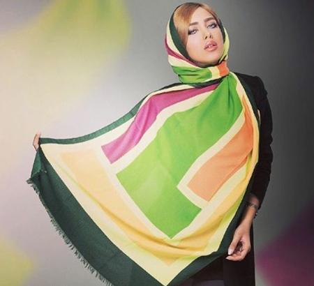 تصاویر مدل روسری های رنگ سال 96