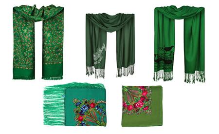 مدل روسری سبز رنگ, شال و روسری سبز