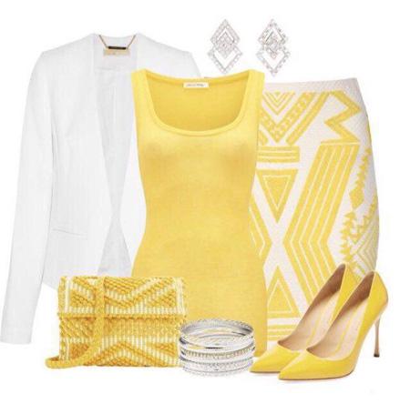 جدیدترین ست لباس, ست لباس زرد