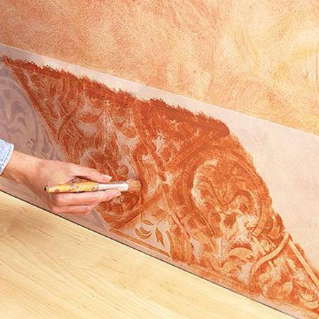 نحوه رنگ آمیزی دیوار, آموزش رنگ آمیزی مدل دار
