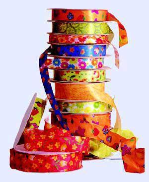 تزئینات رنگین با روبان