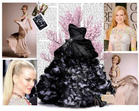 مدل لباس های نیکول کیدمن, ست کردن لباس مجلسی به سبک نیکول کیدمن