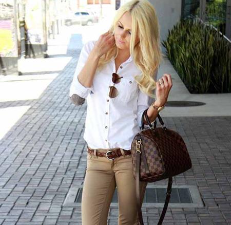 نکاتی برای پوشیدن شلوار کرم,نحوه پوشش لباس با شلوار کرم