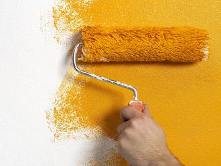 رنگ کردن دیوار,پوشاندن عیب دیوار با رنگ