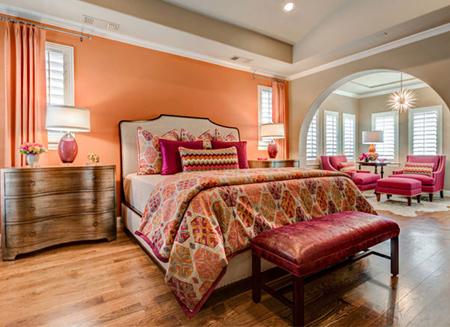 رنگ های مناسب اتاق خواب,رنگ اتاق خواب های رمانتیک
