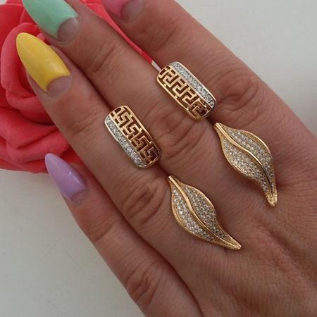 مدل انگشتر طلا,مدل انگشتر و گوشواره
