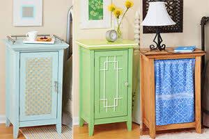 5 ایده جالب برای رنگامیزی یک میز پاتختی ناتمام!