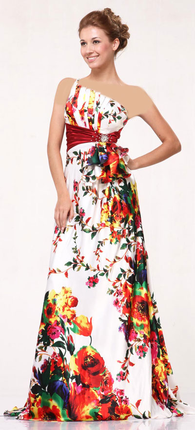 عکس لباس مجلسی حریر گلدار