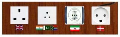 پریزهای برق در کشورهای مختلف + عکس