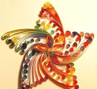 آموزش سبزه لبو هنر های دستی زیبا توسط نوار های رنگی