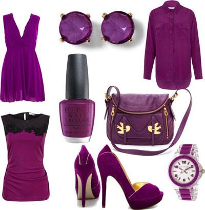 ست کردن لباس مجلسی , ست کردن لباس بنفش با رنگ کفش