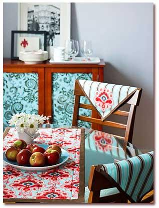 تزئین کردن وسایل و مبلمان منزل با پارچه!