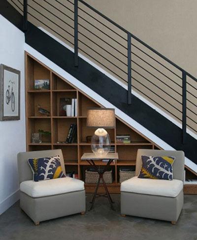 استفاده از فضای زیر پله, دکوراسیون زیر پله ها