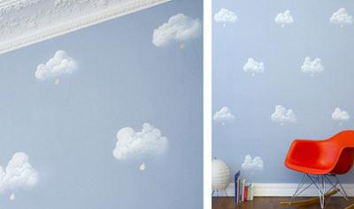 دیوارهای اتاق کودک, کاغذ دیواری اتاق کودک