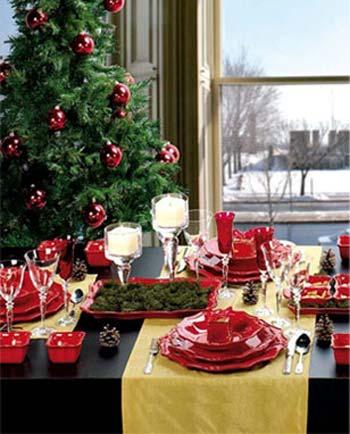 دکوراسیون میز کریسمس, ایده برای دکوراسیون میز کریسمس