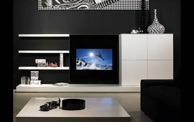 Lcd wall unit designs bedroom