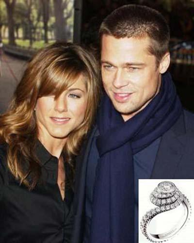 معروف ترین حلقه های نامزدی هالیوودها, حلقه های نامزدی زوج های هالیوودی