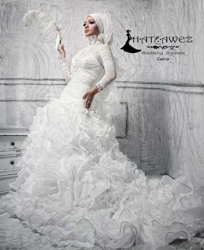 مدل لباس عروس, لباس عروس با حجاب