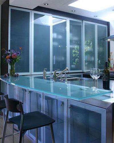 Image result for کابینت های جدید با درب های شیشه ای