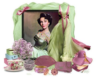 ست کردن لباس رنگ سال ,ست کردن لباس به سبک Elizabeth taylor