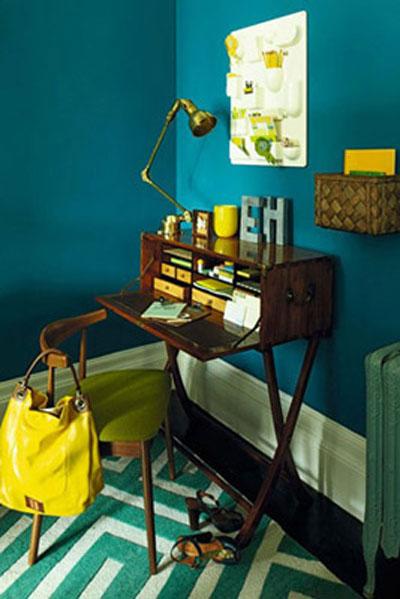 رنگ دیوارهای هنری , رنگ اتاق کار
