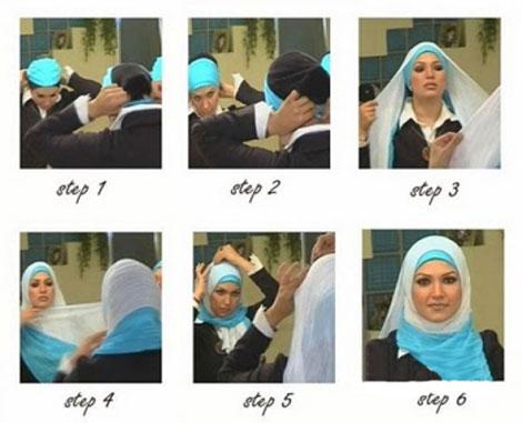 بستن شال و روسری جدید , تصاویر آموزش بستن انواع شال و روسری-www.tudartu.ir