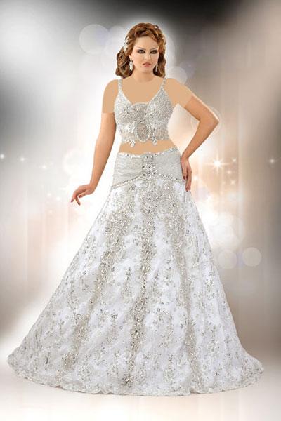 مدل لباس عروس عربی ویسگون , ویسگون لباس عروس عربی 2016