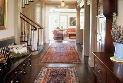 قوانین پهن کردن فرش, نحوه پهن کردن فرش