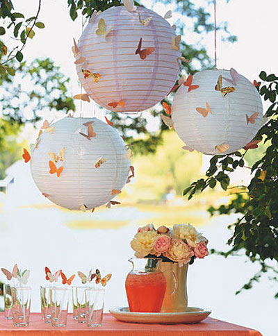 تزیین دکوراسیون تابستانی, تزیین خانه با پروانه