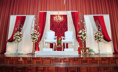 تزیین جایگاه عروس و داماد, دکوراسیون جایگاه عروس