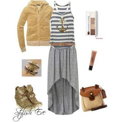 مدل ست های پاییزی,ست های لباس با دامن