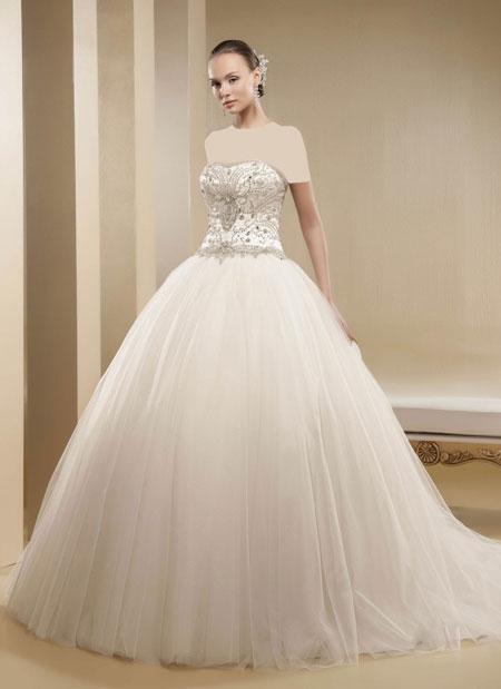 لباس عروس پرنسسی, مدل لباس عروس